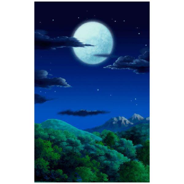 Wandtattoos: Wald bei Nacht