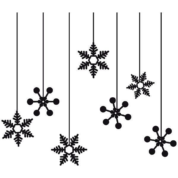 Wandtattoos: Winter Sternen