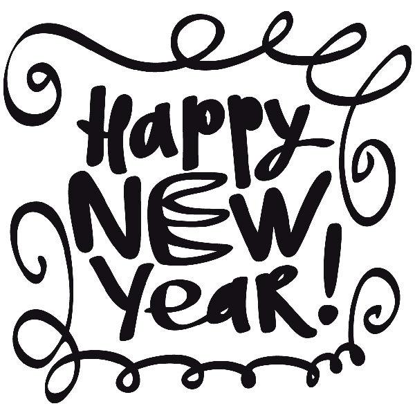 Wandtattoos: Happy new year