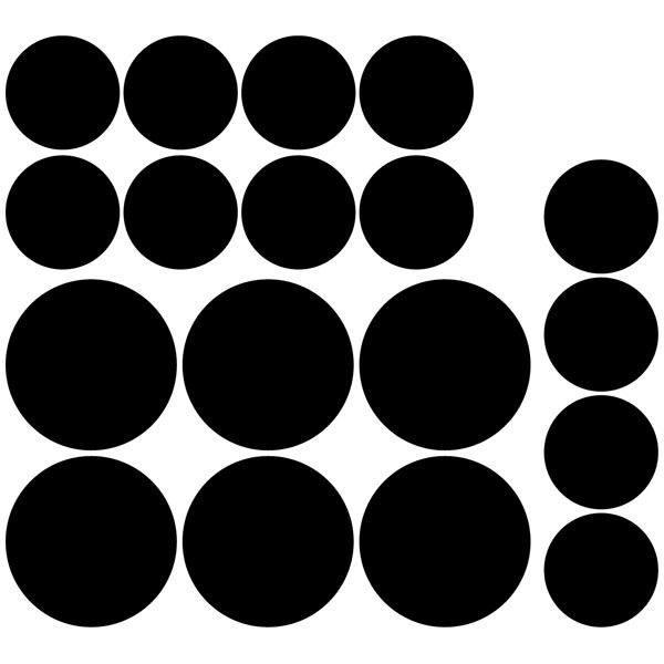 Wandtattoos: Kit 18 Kreise