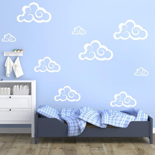 Wandtattoos: Kit 9 Wolken