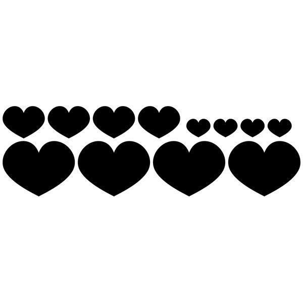 Wandtattoos: Kit 12 Herzen