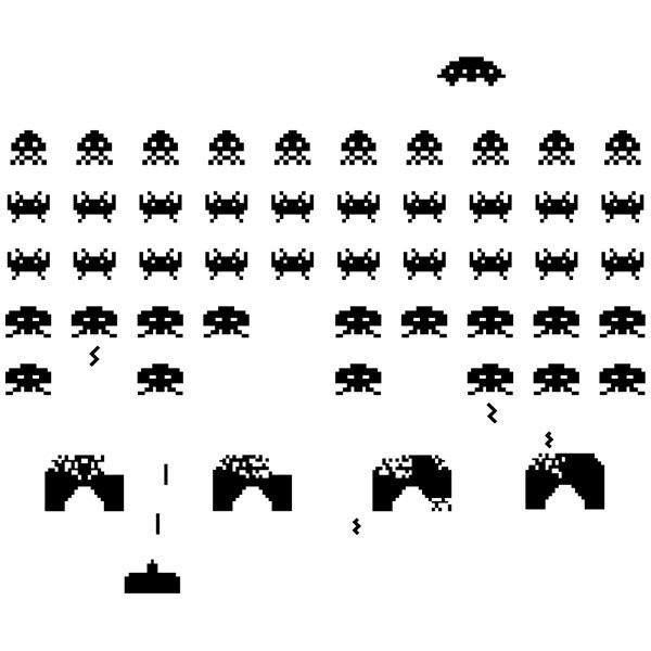 Wandtattoos: Space Invaders