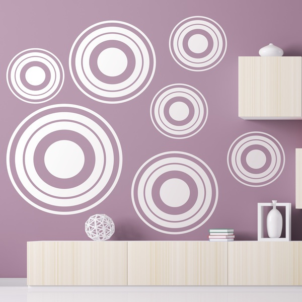 Wandtattoos: Kit 7 circles C