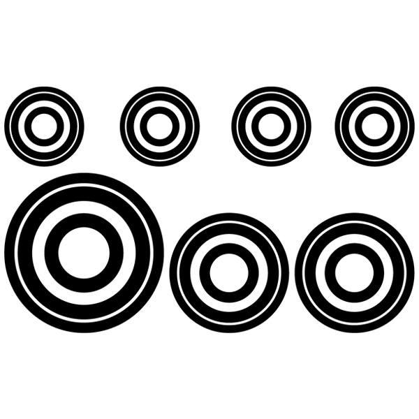 Wandtattoos: Kit 7 circles E