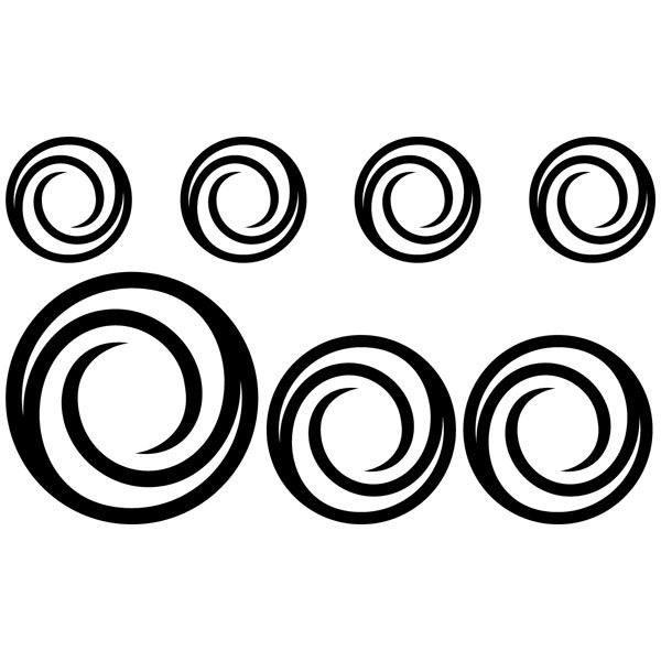 Wandtattoos: Kit 7 circles G