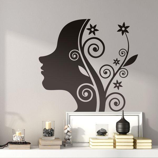 Wandtattoos: girl floral design