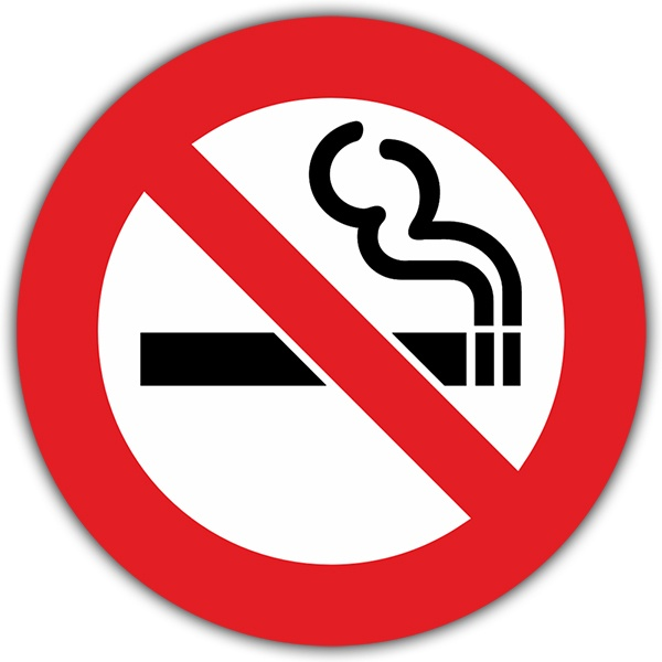 Aufkleber: No smoking 6