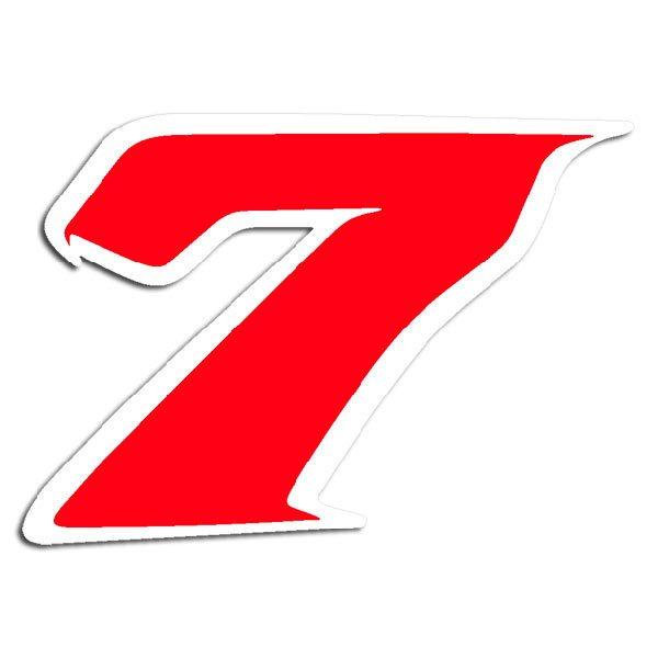 Aufkleber: Número 7