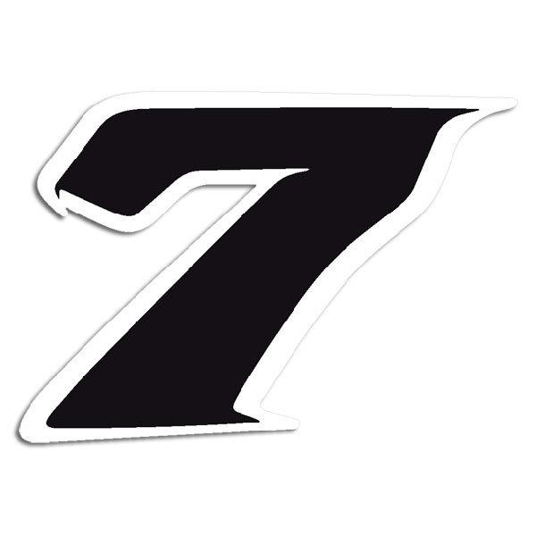 Aufkleber: Number 7