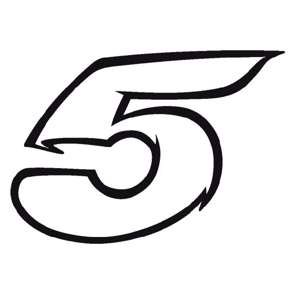 Aufkleber: Number 5