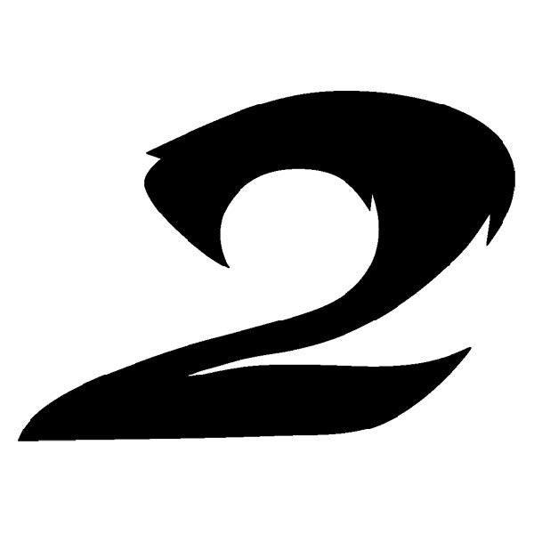 Aufkleber: Number 2