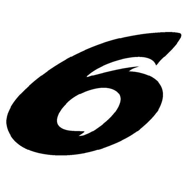 Aufkleber: Number 6