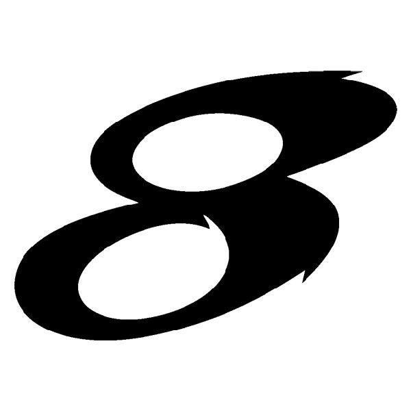 Aufkleber: Number 8