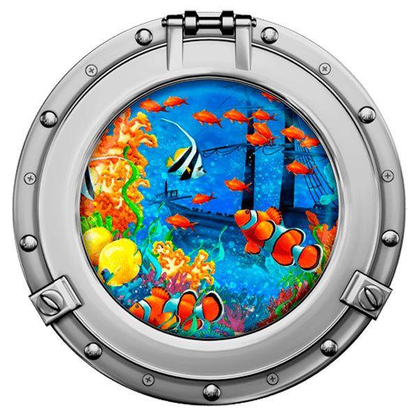 Wandtattoos: Clown Fische und Schiffbruch