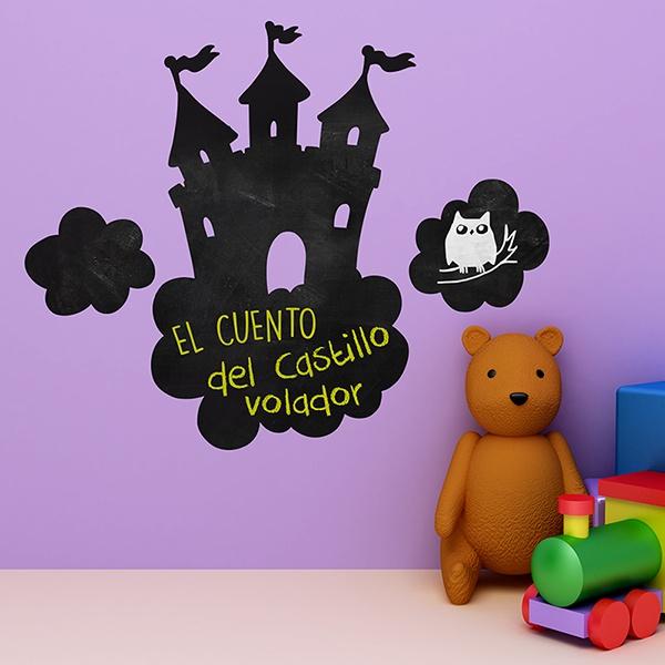 Kinderzimmer Wandtattoo: Schloss in den Wolken