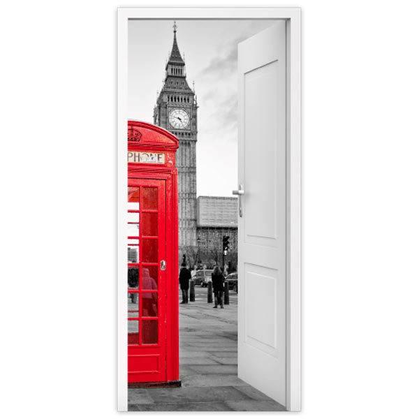 Wandtattoos: Offene Tür London Telefonzelle