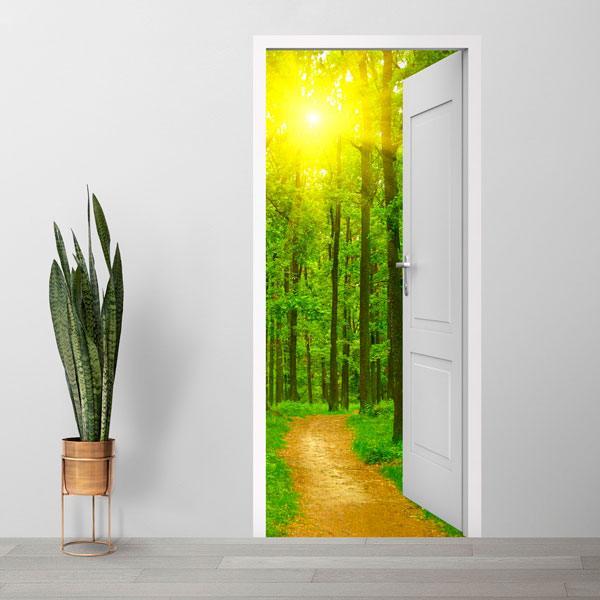 Wandtattoos: Offene Tür Weg in den Wald