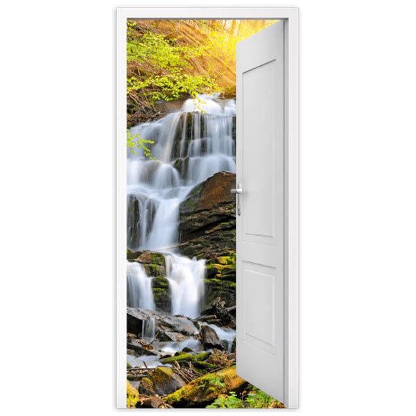 Wandtattoos: Offene Tür Wasserfall