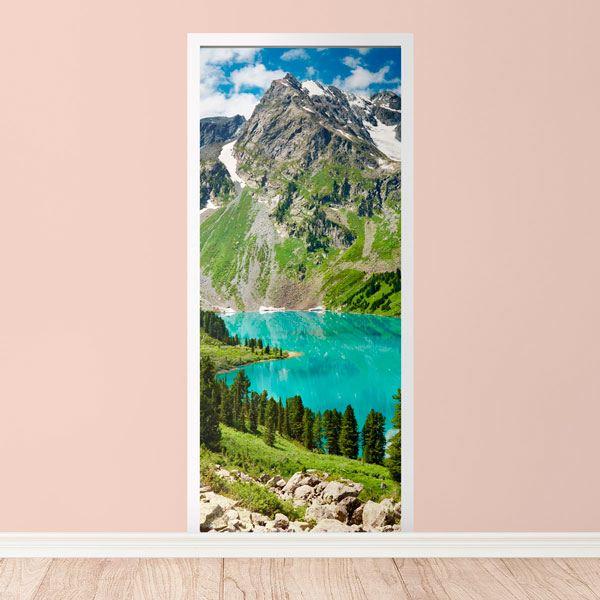 Wandtattoos: Tür Berg und ein See