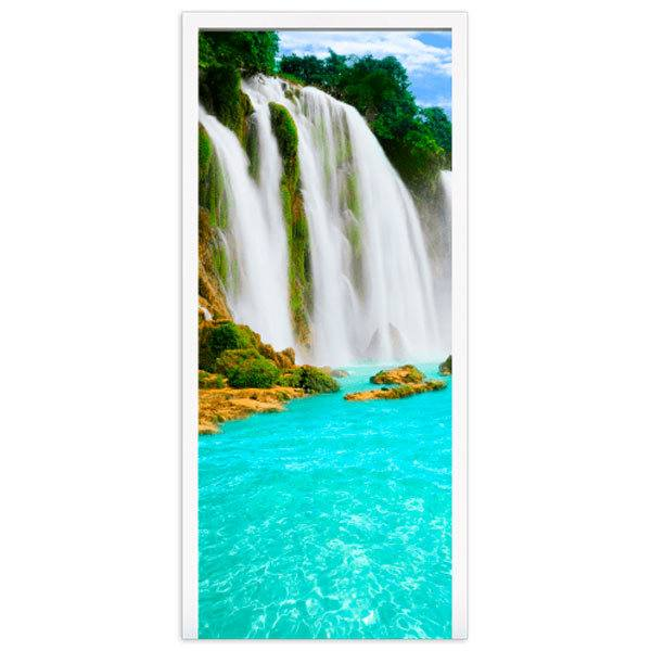 Wandtattoos: Tür Wasserfall