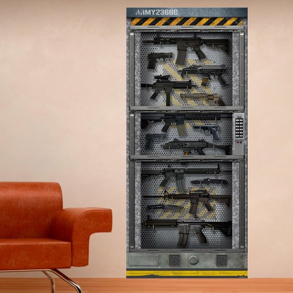 Wandtattoos: Sci Fi Tür Waffenkammer