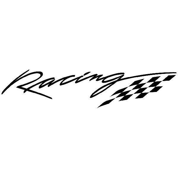 Aufkleber: Racing