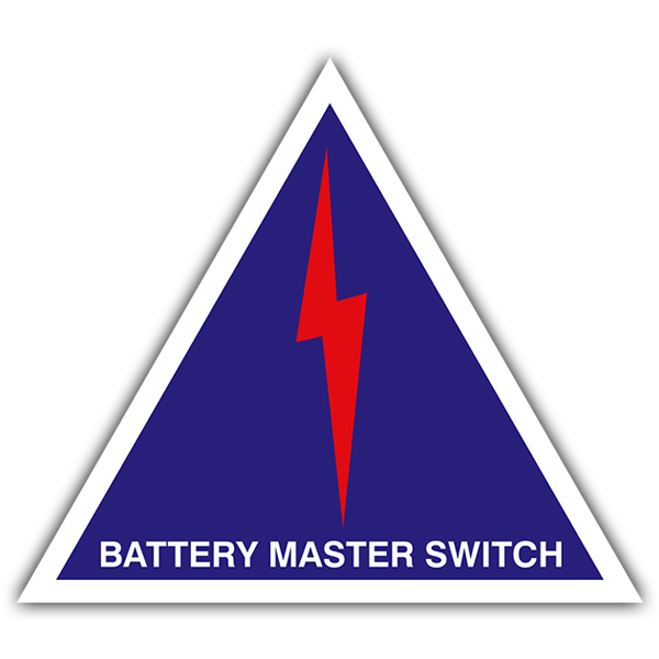 Aufkleber: Battery master switch