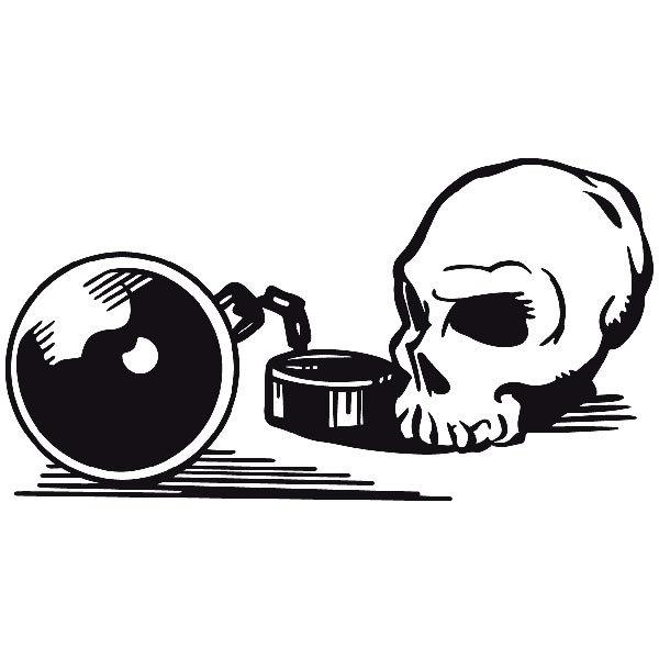 Aufkleber: skull19