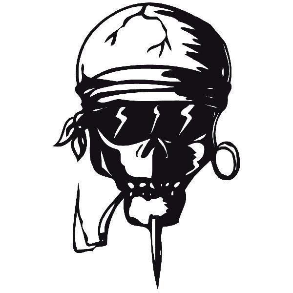 Aufkleber: skull24