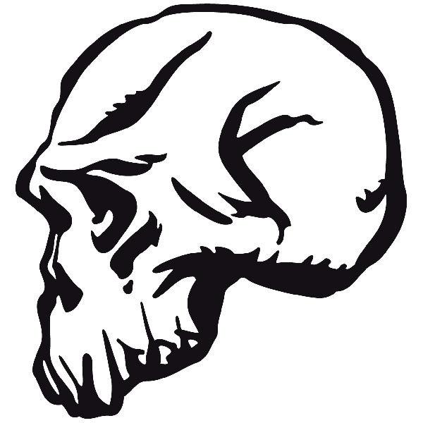 Aufkleber: skull37
