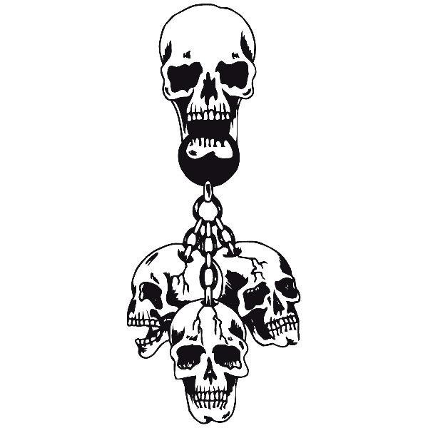 Aufkleber: skull45