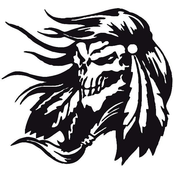 Aufkleber: skull50