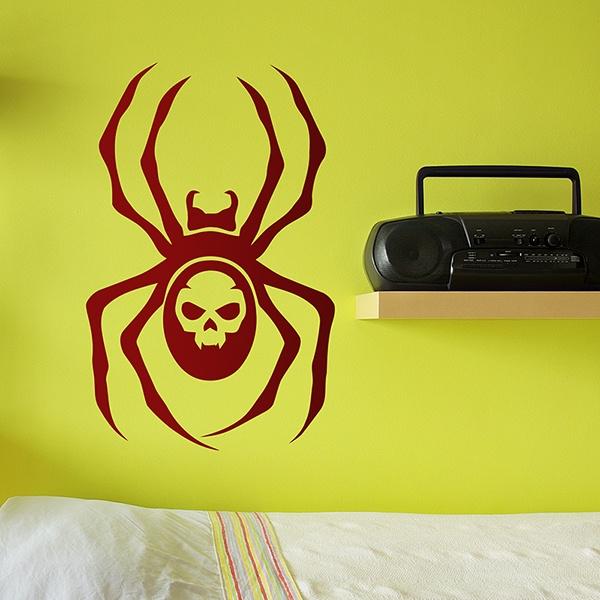 Wandtattoos: Spider Skull