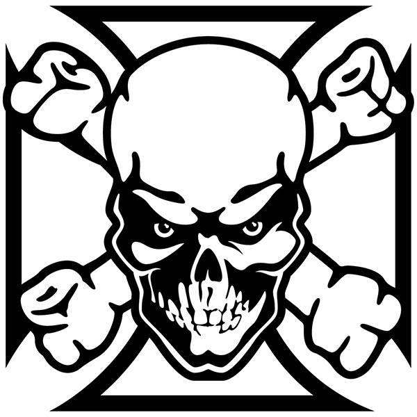 Aufkleber: Skull 69