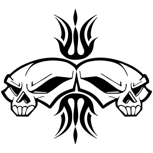 Aufkleber: Skull 74