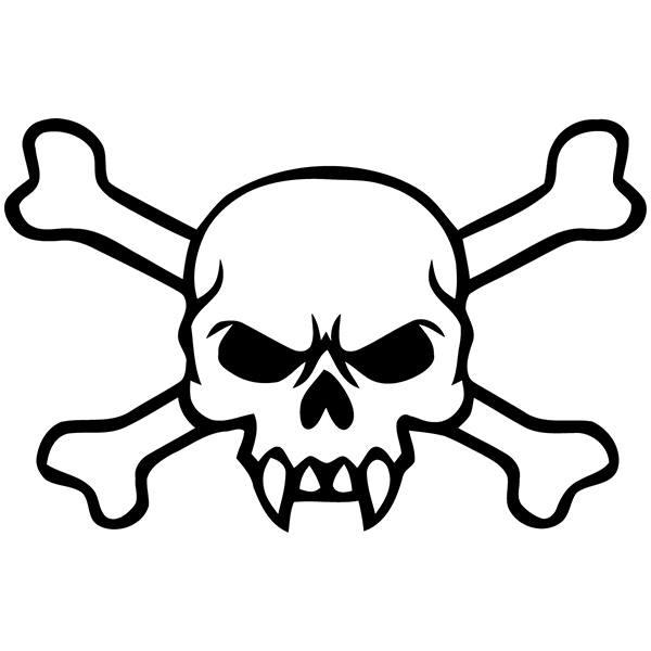 Aufkleber: Skull 76