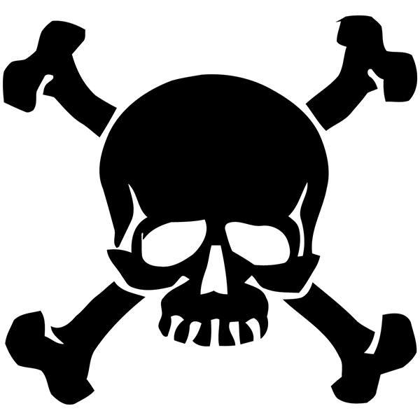 Aufkleber: Skull 85