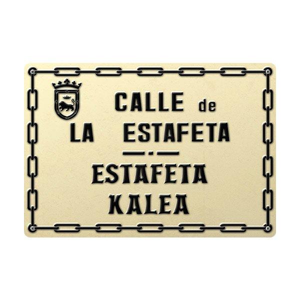 Wandtattoos: Estafeta Street sign