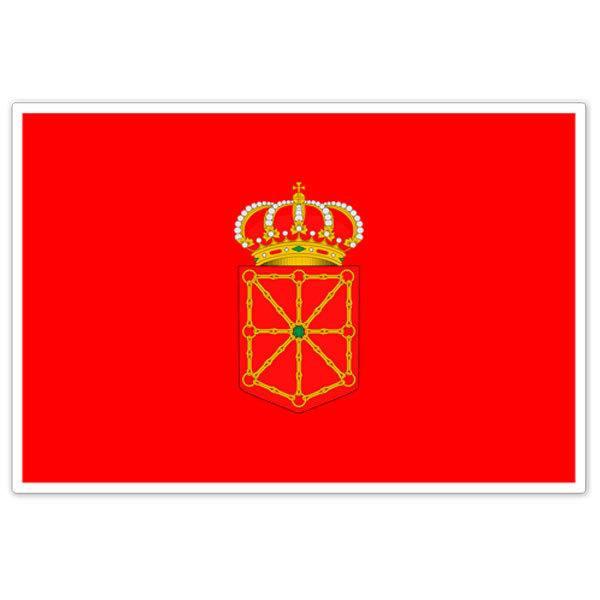 Aufkleber: Navarra Flagge
