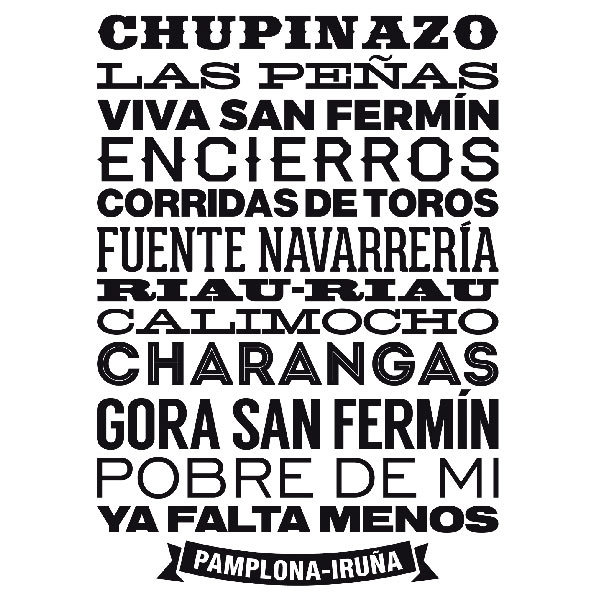 Wandtattoos: Pamplona-Iruña