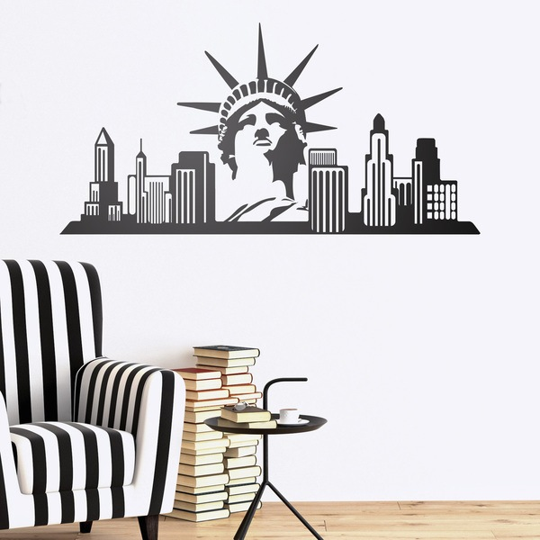 Wandtattoos: New York Skyline