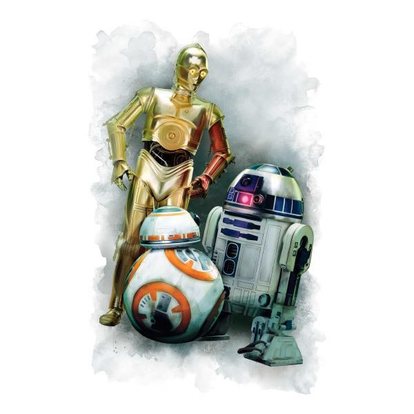 Wandtattoos: Wandtattoo R2D2, C3PO und BB