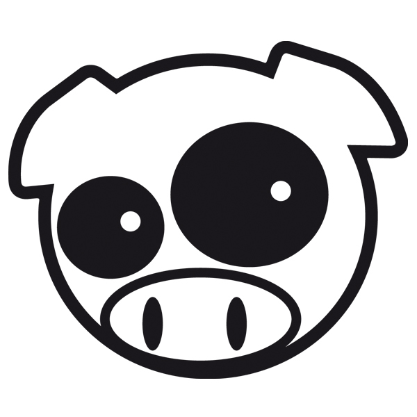Aufkleber: Subaru Pig