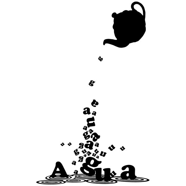 Wandtattoos: Teapot with water
