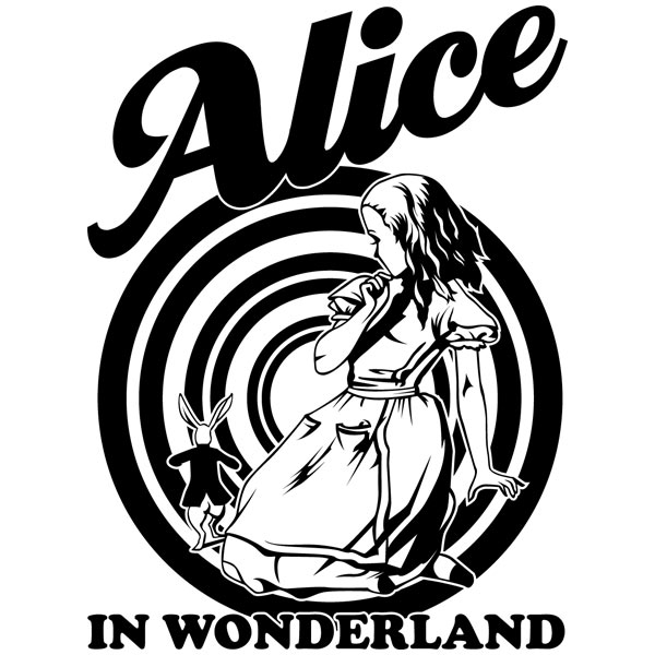 Wandtattoos: Alice in wonderland