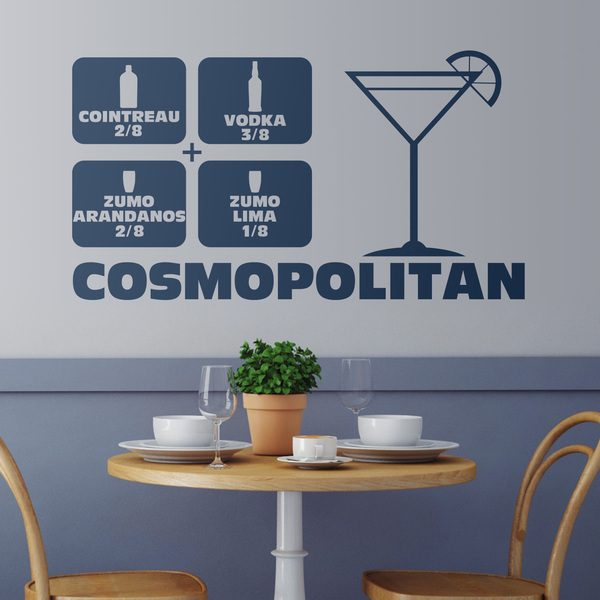 Wandtattoos: Cocktail Cosmopolitan