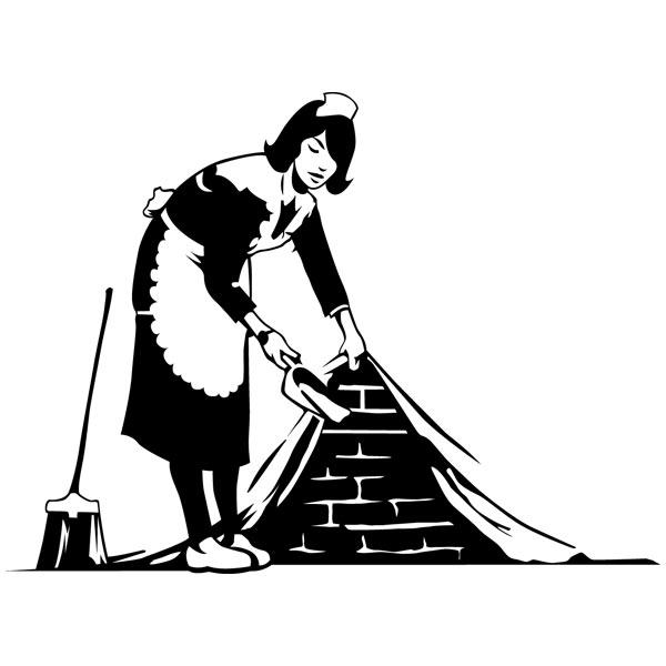 Wandtattoos: Die Putzfrau