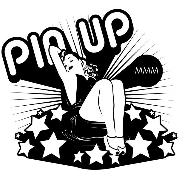 Wandtattoos: Pin Up Girl