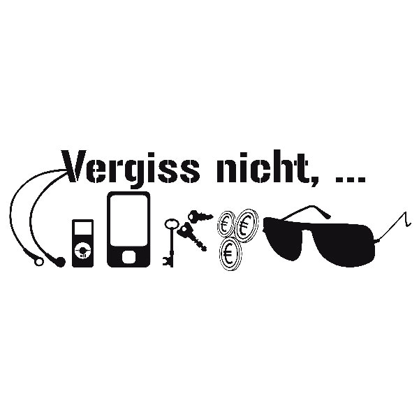 Wandtattoos: Vergiss nitch